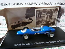 voiture 1/43 ELIGOR : Renault ALPINE formule 2 F2 winner 1st coupe de Paris 1964