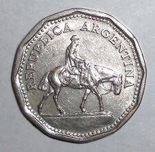 Argentina 10 pesos, Gaucho on horse, animal wildlife coin