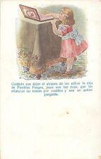 Vintage Purgen Pills Advertising Pastillas tablets girl medicine drug remedy