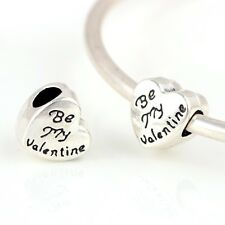 be my Valentine Bead charm Beads Day Valentines Heart gift pd bracelet charms UK