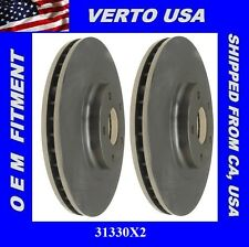 Verto USA Set Of 2 Front Brake Rotors, Fit Nissan, Infiniti