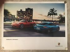 2016 Porsche 718 Boxster & 718 Cayman S Showroom Advertising Sales Poster RARE!!