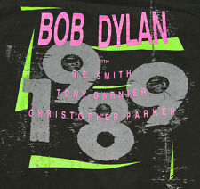 S * vtg 80s 1989 BOB DYLAN concert tour screen stars t shirt * 10.101