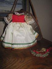 """Original Vintage Satin dress for your  Madame Alexander doll 8"""""""