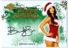 "BRANDY GRACE ""HAPPY HOLIDAYS AUTOGRAPH"" BENCHWARMER HOLIDAY 2013"