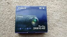 "Canon PowerShot SX610 HS 20.2 MP Digital Camera 18x Zoom 3"" LCD Black NEW/SEALED"