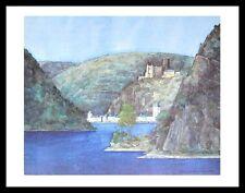 Helga Westphal Loreley St. Goar vivere e Castello Katz poster stampa d'arte quadro &