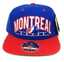 New MONTREAL EXPOS SNAPBACK HAT Blue/Red Flat-Bill Throwback Vtg-style Men/Women