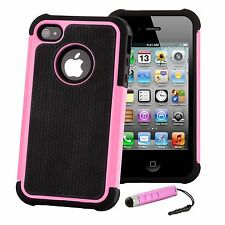 Doble Capa Funda A Prueba De Choques Apple iPhone Modelos+Protector Pantalla &