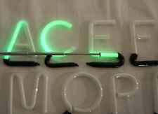 "25 Vintage 2"" Green Neon Individual Sign Letters - Tested & Working"