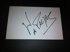 Autographe de Gerald De Palmas - Obtenu en personne