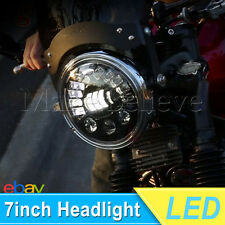 New Type 7inch LED Harley Motorcycle Headlight Daymaker Black Projector DRL