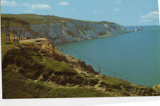 OLD POSTCARD - ISLE OF WIGHT - Alum Bay showing chairlift and Needles