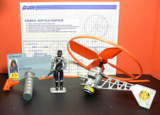 G.I. Joe Cobra Interrogator action figure and Battle Copter 1991 Vehicle.