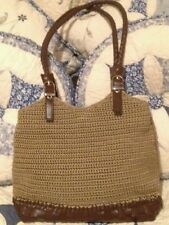 Crocheted With Feaux Leather Bottom
