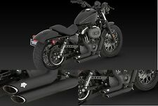 SCARICHI MARMITTE V&H VANCE & HINES Shortshots Staggered NERI IRON NIGHTSTER LOW