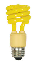 13 Watt Yellow Bug Light Compact Fluorescent Mini Twist = to 60 Watt