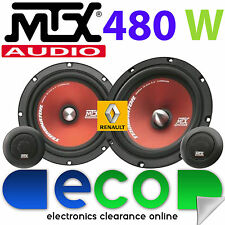 "Renault Megane Classic MTX 6.5"" 480 Watts Component Kit Front Door Car Speakers"