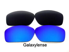 Galaxy Replacement Lenses For Oakley Scalpel Black&Blue Polarized 2 Pairs