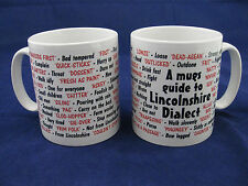 Lincolnshire lincoln dialecte langue locale sayings traduction anglaise pour mug