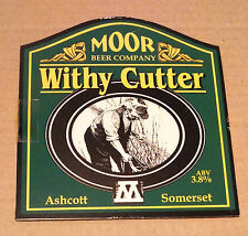 Beer pump badge clip MOOR (Ashcott) brewery WITHY CUTTER cask ale pumpclip front