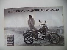 advertising Pubblicità 1987 MOTO DUCATI INDIANA 650