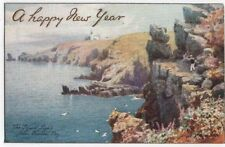 Early  New Year Greetings Post Card, THE LIZARD LIGHTS FROM HOUSEL BAY, Tuck