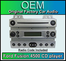 Ford 4500 CD player, Ford Fusion car stereo Silver radio supplied with code