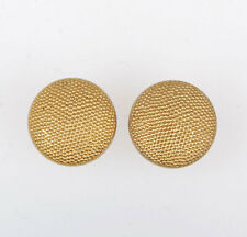 A PAIR OF WWII GERMAN OFFICER GRAIN SHOULDER BOARD BUTTON GOLD 18MM-33527
