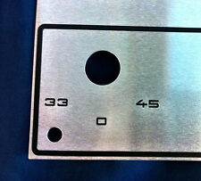 RARE THORENS TD 165 SPECIAL FACE PLATE NEW