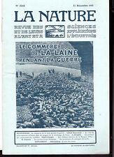 La Nature N° 2202 -Revue des sciences - Commerce de la Laine pendant la Guerre