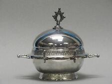 ANTIQUE PAIRPOINT SILVER QUADRUPLE PLATE DOME BUTTER BOWL DISH  513