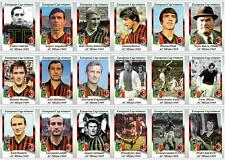 AC Milan European Cup winners 1969 football trading cards