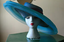 Stunning Ladies Turquoise / Purple Hat From Fenwick In Original Box Worn Once