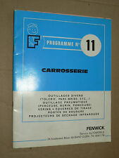 Catalogue FENWICK  1968 outillage carrosserie garage auto à St OUEN  outil