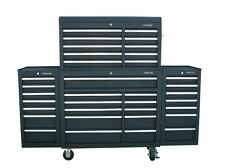 """24 US PRO Tools Black Tool Chest Box Snap Up 2 side cabinet 75"""" finance option!"""