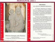1917 SANTINO HOLY CARD MILLENARIA IMMAGINE MADONNA ROSARIO DI FOLLINA TREVISO