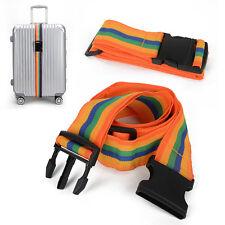 Backpack Bag Luggage Suitcase Straps Baggage Rainbow Belt Adjustable New