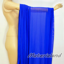 "160cm(63"") Width Blue Power 4 Way Stretch Spandex Mesh Net Fabric Dress Making"