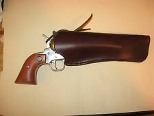"Western Leather Revolver Holster up to 7-1/2"" Barrel up to 2-1/4"" Belt"