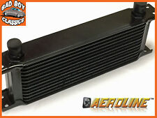 "AeroLine 13 Row Black Alloy Oil Cooler 1/2"" BSP Ideal For Classic Car"