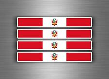 4x sticker decal car stripe motorcycle racing flag bike moto tuning peru