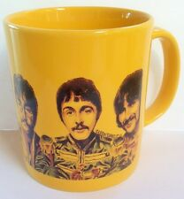THE FAB FOUR SGT. PEPPER YELLOW CERAMIC MUG John Lennon, Paul McCartney