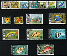 TANZANIA 1967 Fishes Complete Set SG 142 to SG 157 VFU