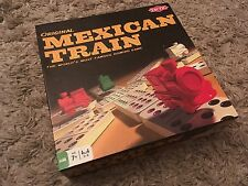 ORIGINAL MEXICAN TRAIN DOMINO GAME COMPLETE AND IN EXCELLENT CONDITION FREEPOST