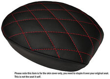 DIAMOND BRGHT RED ST CUSTOM FITS HARLEY SPORTSTER 883 48 72 REAR LTHR SEAT COVER