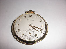 Vintage Longines 14k Solid Gold 17 Jewel Pocket Watch  Open Face working