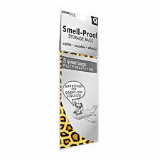 Stink Sack Smell Proof Storage Reusable Bags Quart Leopard 3pk FREE Shipping