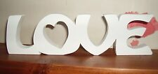 LOVE plaque free standing/Large wooden letters/home/romantic/modern/gift