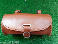 Borsellino manubrio bici miele in vera pelle borsello leather bike tool bag